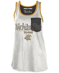 Royce Apparel Inc Women's Wichita State Shockers Campbell Pocket Slub Tank White Black