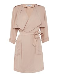 Lydc 3 4 Sleeve Trench Jacket Beige