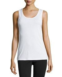 Xcvi Scoop Neck Tank White