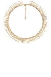 Luv Aj The Mini Spike Fringe Necklace Metallic Gold