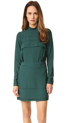 N 21 High Collar Dress Green