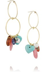 Inez And Vinoodh 18 Karat Gold Multi Stone Earrings Metallic