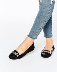 Oasis Chain Loafer Black