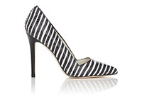 Alice Olivia And Women's Dina Too Striped Leather Pumps No Color