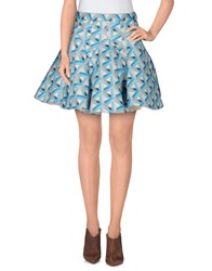 Cameo Skirts Mini Skirts Women Sky Blue