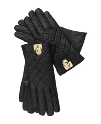 Michael Michael Kors Quilted Leather Hamilton Lock Gloves