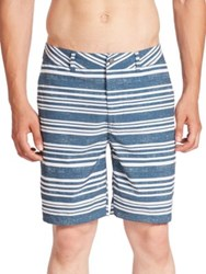 Surfside Supply Horizontal Stripe Amphibian Shorts Indian Teal