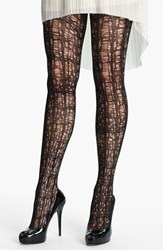 Pretty Polly Women's 'Striking Laddered' Tights Black