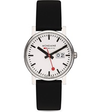 Mondaine Monochrome Stainless Steel Watch White
