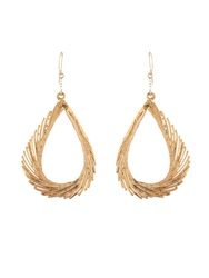 Aurelie Bidermann Fine Jewellery Swan Feather Yellow Gold Earrings