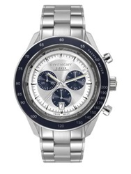 Givenchy Eleven Stainless Steel Chronograph Watch Silver