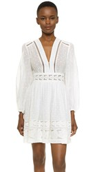 Zimmermann Realm Embroidered Panel Dress White