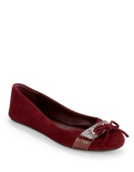 Kenneth Cole Reaction Truth Time Suede Flats Winterberry