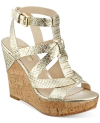 Guess Women's Harlea Wedge Sandals Women's Shoes Gold