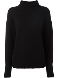 Dorothee Schumacher High Neck Loose Fit Sweater Black