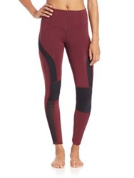 Free People Cool Rider Leggings Red Combo