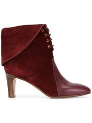 Chloe 'Kole' Ankle Boots Pink And Purple