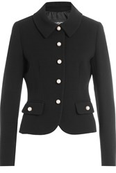 Boutique Moschino Virgin Wool Jacket With Faux Pearls Black