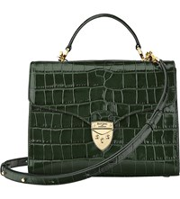 Aspinal Of London Mayfair Crocodile Effect Leather Bag Forest Green