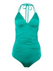 Biba Rouched Double Strap Swimsuit Emerald