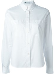 T By Alexander Wang Chest Pocket Shirt White