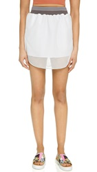 Clover Canyon Square Mesh Skirt White