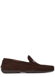 Hugo Boss Flarro Brown Suede Loafers