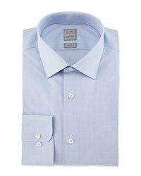 Ike Behar Micro Check Woven Dress Shirt Light Blue