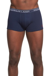 Polo Ralph Lauren Cotton Trunks Assorted 3 Pack Cruise Navy Blue