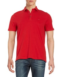 Michael Kors Short Sleeve Cotton Polo Red