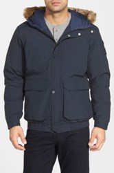 Helly Hansen 'Legacy'' Relaxed Fit Jacket With Faux Fur Trim Blue