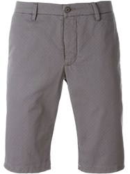 Woolrich Patterned Shorts Grey