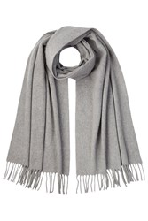 Polo Ralph Lauren Cashmere Scarf With Wool Grey