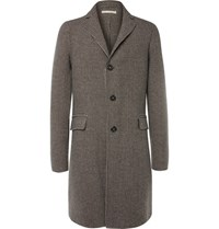 Massimo Alba Austin Houndstooth Wool Overcoat Black