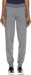 Marc By Marc Jacobs Grey Knit Jon Stripe Lounge Pants