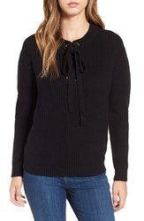 J.O.A. Women's Lace Up Sweater