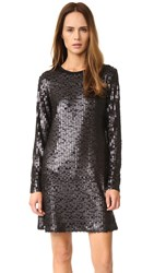 Goen.J Sequin Long Sleeve Dress Black