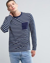 Another Influence Long Sleeve Striped T Shirt Navy