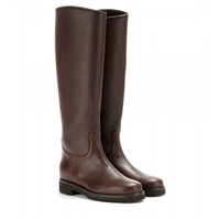 Loro Piana Sauvanne Leather Boots Dark Brown