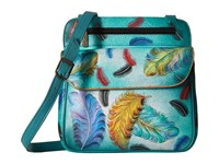 Anuschka 530 Floating Feathers Handbags Green