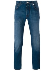 Jacob Cohen Light Stonewash Effect Slim Fit Jeans Blue