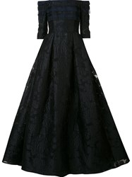 Carolina Herrera Off The Shoulder Ball Gown Black