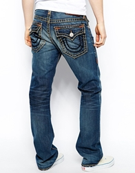 True Religion Jeans Ricky Super T Straight Fit Flap Pocket Hot Springs Wash Hotsprings