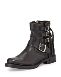 Veronica Multi Strap Ankle Boot Black Frye