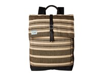 Toms Two Tone Stripe Backpack Black Backpack Bags