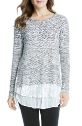 Karen Kane Women's Lace Hem Sweater