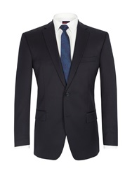 Pierre Cardin Twill Single Breasted Suit Jacket Navy