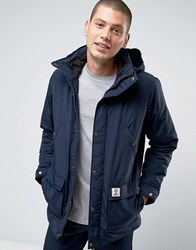 Franklin And Marshall Padded Parka With Hood Navy