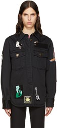 Marc Jacobs Black Embellished Military Jacket