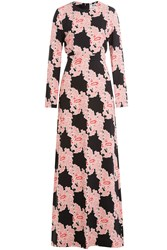Msgm Printed Floor Length Dress Florals